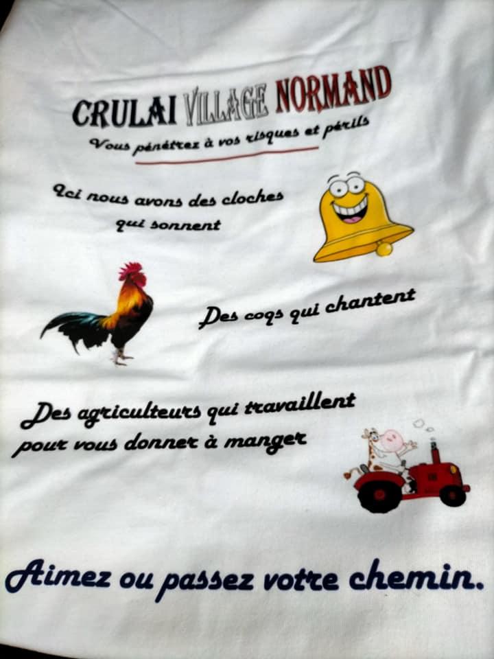 T-shirts de la sauvegarde de l'église de Crulai